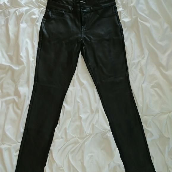 71866cd453 refuge Pants   Black Faux Leather   Poshmark